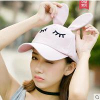 可爱帽子女鸭舌帽韩冬季甜美可爱耳朵女生韩版潮百搭时尚带耳朵的