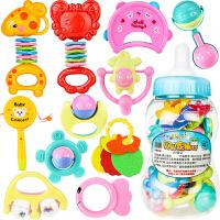 婴儿摇铃牙胶手摇铃宝宝新生婴儿玩具0-3-6-12个月幼儿0-1岁益智