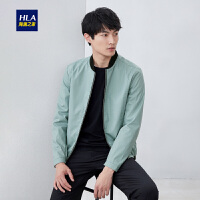 HLA/海澜之家清新棒球领夹克2019春季新品简约休闲夹克外套男