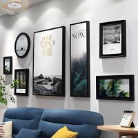 北欧照片墙相框墙现代客厅装饰画相框挂墙结婚礼物墙面装饰免打孔