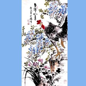 中国青年美术家协会常务理事,国家一级美术师,中国山水画院专业画家,山东省美协会员高云鹏(吉祥如意)