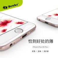 邦克仕(BenKs)iPhone6plus钢化膜苹果6s全屏覆盖蓝光3d曲面软性纳米防爆