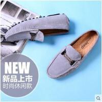 战地吉普英伦男鞋豆豆鞋男休闲鞋懒人鞋真皮潮鞋青年鞋子K0117