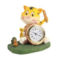 大贸商动物时钟 树脂小老虎钟 卡通钟表闹钟室内摆饰摆件HC00151