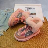 2018冬款儿童雪地靴女童加绒短靴真皮男童棉鞋中大童保暖宝宝靴子