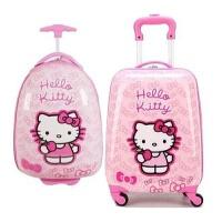 儿童拉杆箱16寸18寸万向轮女宝宝旅行箱可爱卡通女孩登机行李箱子 16寸蛋形( 送小锁贴纸)