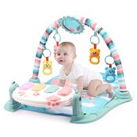 新生婴幼儿脚踏钢琴健身架器宝宝音乐游戏毯玩具0-1岁3-6-12个月 升级飞机版健身架