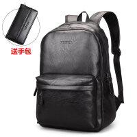 0318015557873双肩包男士休闲旅行背包包韩版学生商务包电脑皮包大容量潮流书包