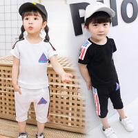 童装套装 短袖套装2017夏装儿童宝宝短袖短裤运动两件套小孩衣服潮
