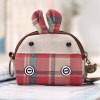?零钱包女迷你可爱韩国钥匙包布艺帆布小包包小钱包学生硬币零钱袋? 30_桔红色 红绿驴仔-卡通