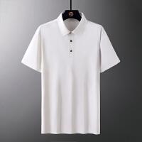 无痕POLO衫男士短袖夏季薄款2021新款韩版潮流纯色翻领上衣服