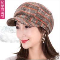 女秋冬贝雷帽韩版潮休闲帽子百搭英伦冬季女帽八角帽时装帽