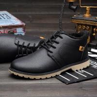 DAZED CONFUSED冬季新款男士棉鞋韩版休闲鞋男皮鞋保暖工装鞋工作鞋男CQM