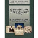 Wheeler (Wilfred) v. Vermont U.S. Supreme Court Tran******