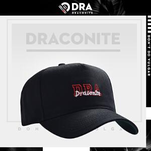 DRACONITE街头嘻哈英文刺绣遮阳弯檐帽子女运动休闲鸭舌帽男
