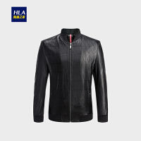 HLA/海澜之家棒球领PU皮夹克2018秋季新品时尚男士夹克外套