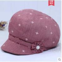老年人女士帽子时装帽女鸭舌帽布料妈妈帽小檐遮阳帽薄优雅