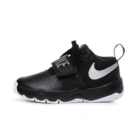 耐克(Nike)童鞋男童篮球鞋 防滑魔术贴运动鞋881942-001 黑色