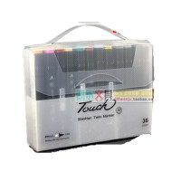 touch 三代双头油性酒精马克笔3代 通用标准36色套装
