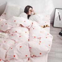 纯棉单人床被套三件套被套被罩两件套2被单单件床单ins北欧三件套纯棉少女学生宿舍单人