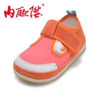 内联升童鞋单鞋千层底贴胶拼色夹鞋宝宝布鞋老北京布鞋 5438C
