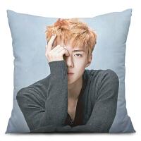 DIY照片来图创意定制生日礼物EXO吴世勋抱枕头周边午睡靠枕垫定做