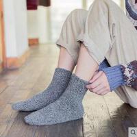 韩版户外袜子男毛巾袜加厚加绒男士中筒棉袜毛圈保暖长袜