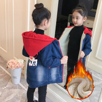 童装冬季新款女童加绒加厚2018牛仔风衣中大童韩版保暖休闲外套