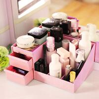 梳妆台抽屉式化妆品收纳盒桌面口红置物架耳环首饰护肤品整理盒子