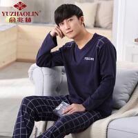 俞兆林2019年新款男士家居服学生纯棉韩版休闲款式睡衣两件套