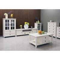 风格白色家具 简约田园组合电视柜 极简北欧实木电视柜 组装