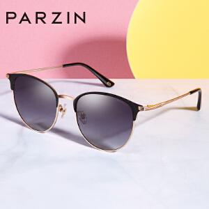 帕森2019新品偏光太阳镜女简约复古金属半框潮墨镜时尚驾驶镜8218