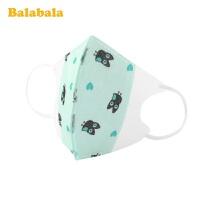 巴拉巴拉儿童口罩防飞沫男童宝宝婴幼儿小孩子透气印花防护五只装