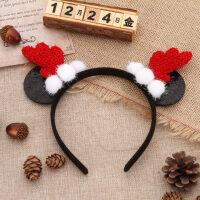 圣诞装饰品店面节日气氛场景布置创意卡通可爱小挂饰米奇发箍挂件