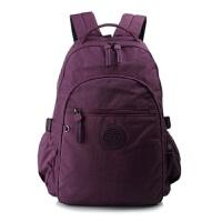 水洗尼龙布料双肩包 女包休闲旅行背包电脑包 学院风中号学生书包