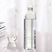 手工耐热玻璃杯透明户外 运动杯送保护套500ML玻璃矿泉水瓶随手杯水杯创意车载杯冷水壶