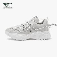 七匹狼男鞋2020春秋新款运动鞋青年休闲增高老爹鞋韩版鞋子