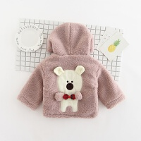 装女宝宝毛毛衣打底衫0女童加绒加厚1套头卫衣2婴儿童装3岁毛衣