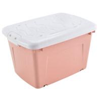 收纳箱塑料特大号装衣服整理箱大号特大收纳盒家用衣物储物箱 大号3个装 70L