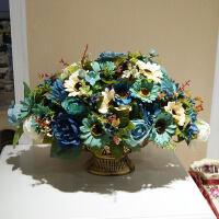 欧式家居饰品客厅装饰花艺摆件餐桌摆设花艺仿真花卉假花绢花套装