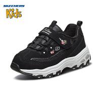 【限时抢:199元】斯凯奇(SKECHERS)童鞋 时尚经典熊猫鞋 魔术贴休闲运动鞋80579L 黑色-BLK