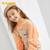 巴拉巴拉童装女童裤子儿童春装2020新款中大童纯棉背带裤洋气韩版