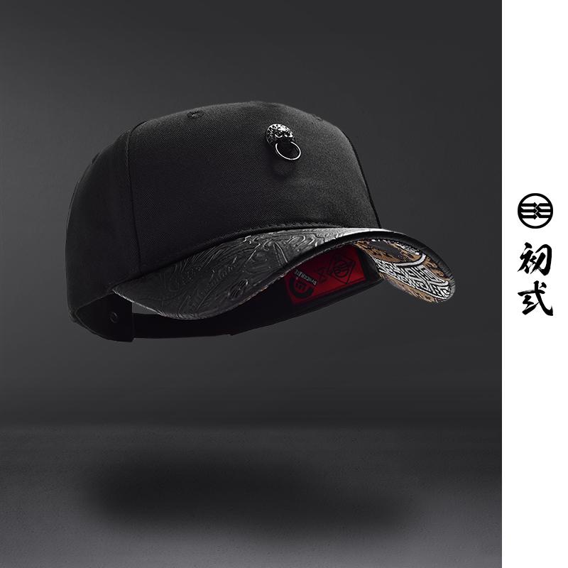 初弎中国风潮牌狮子头男女情侣创意街舞嘻哈鸭舌帽棒球帽子46077
