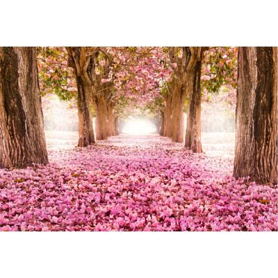 情人节礼物成人1000片木质拼图1500智力拼图唯美幸福栈道浪漫樱花