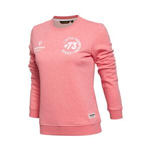 乐途卫衣女士运动生活系列秋季套头衫长袖圆领针织运动服EWDL034