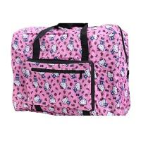 旅行袋大容量防水可套拉杆箱行李包Kitty卡通可爱可折叠行李袋世帆家SN3629 粉红色 KT猫 大