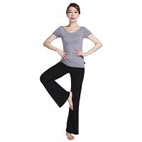 [当当自营]皮尔瑜伽(pieryoga)2018新款瑜伽服套装女 跑步运动健身服修身显瘦两件套 81326天空灰短袖+