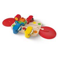 Hape火车轨道早旋律响铃18个月以上儿童早教火车轨道玩具婴幼玩具木制玩具滑道E3812