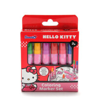 Hello kitty儿童宝宝无毒涂鸦彩笔画笔画画神器绘画水彩笔可水洗