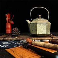 铸铁泡茶烧水壶煮茶器电陶炉茶炉功夫茶具套装生铁壶铸铁纯手工八角煮水茶壶公司年会礼品套装
